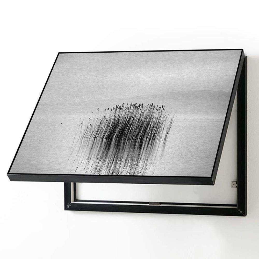 Caja de distribución Caja Eléctrica Decorativa PaintingBlack Y Negro Simple Caja De Distribución De La Pintura Nórdica Caja decorativa de pintura decorativa (Color : 60 * 50cm 50 * 40cm-flip Cover): Amazon.es: