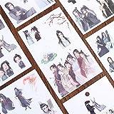 BLOUR 6 Hojas Mo Dao Zu Shi Pegatinas Autoadhesivas PVC Transparente DIY Scrapbooking decoración papelería Diario Pegatinas niños Regalos