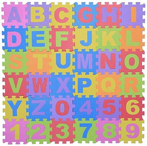 36stk souple EVA Tapis Mousse Enfant Jeu N ° 0 9 & Lettres A - Z bébé kriechende Coussin joue multicolores de sol carrée Tapis verriegelnde Puzzle Jeu de sécurité Couverture Tapis Yoga eignung