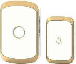 Wireless Voice Intercom Deurbel Waterdicht 300M Remote Smart Deurbel Home Security Draadloze Deurbel Voor Home Office Gold