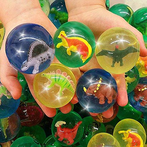 German Trendseller® - 12 x Große Dinosaurier Springbälle - Mix ★ NEU ★ ┃ ++ Gratis Dino In jedem Ball ++ ┃ Kindergeburtstags Mix ┃ SUPER Sprungkraft ✔ ┃ 12 Stück