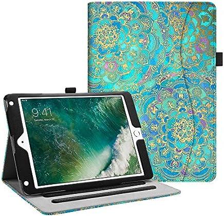 Fintie iPad 9.7 2018 2017 / iPad Air 2 / iPad Air Case - [Corner Protection] Multi-Angle Viewing Folio Stand Cover w/Pocket, Auto Wake/Sleep for Apple iPad 6th / 5th Gen, iPad Air 1/2, Shades of Blue