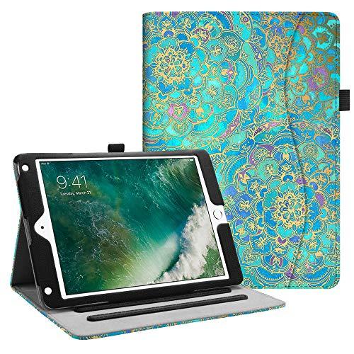 Fintie Hülle für iPad 9.7 Zoll 2018 2017 / iPad Air 2 / iPad Air - [Eckenschutz] Multi-Winkel Betrachtung Folio Stand Schutzhülle Hülle mit Dokumentschlitze, Auto Sleep/Wake, Jade