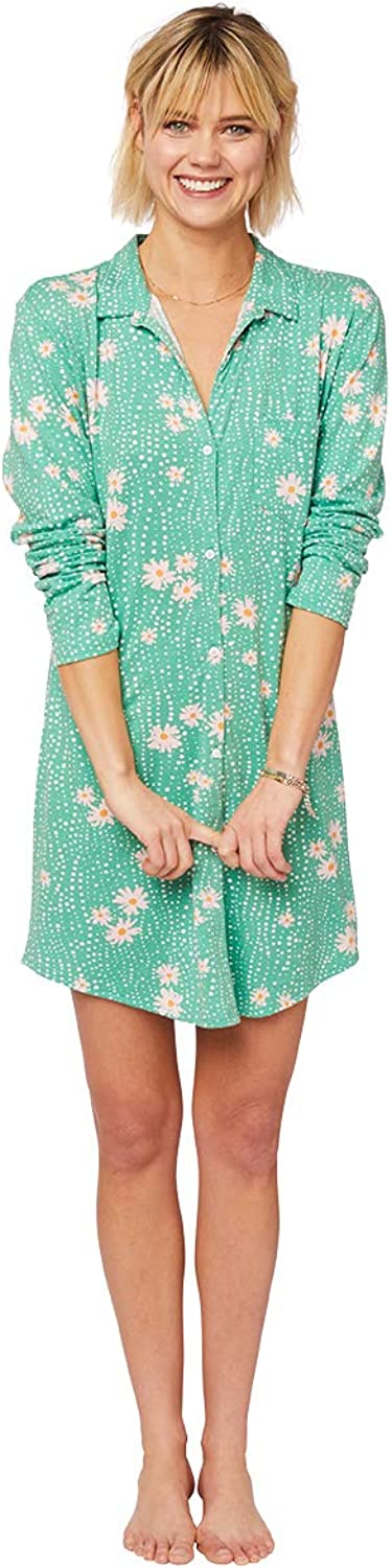 The Cat's Pajamas Lazy Daisy Pima Knit Night Shirt