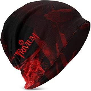Hdadwy Beanie Hat Trivium Heavy Metal Band Knit Hat Gorro de Calavera Fina con puños para niños y niñas Negro
