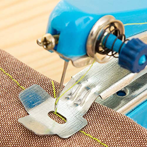 Sdoveb 1PC Hand-held Sewing Machine, Portable Needlework Cordless Mini Hand-Held Clothes Fabrics Sewing Machine,Best Sewing Machine for Beginners or Family, Size:11x7cm (Random)