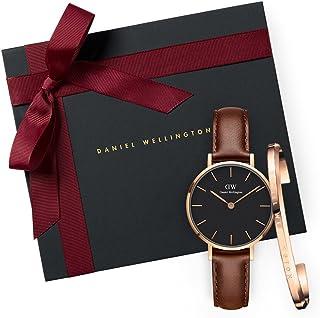 Daniel Wellington Gift Set Classic Petite St Mawes Black Watch Rose Gold 28mm+ Bracelet RG Small