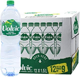 Volvic 富维克天然矿泉水1.5L*12瓶/箱 法国原装进口(2018年05月生产)保质期2年