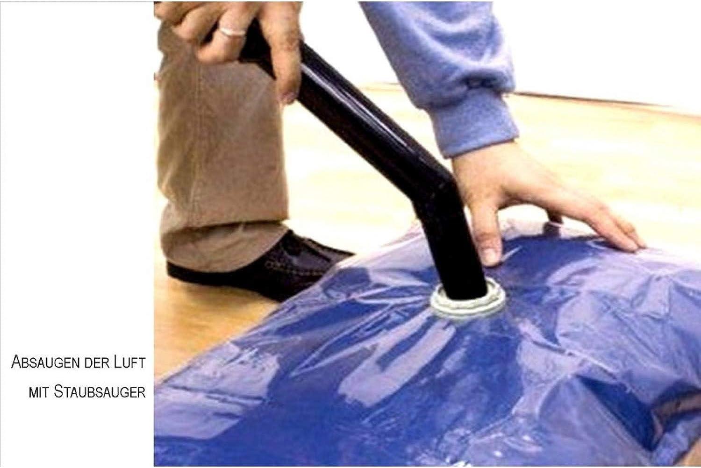 Vakuum Kleiderbeutel - 1Set 3St. - 1 x 85 x 50 u. 2 x 130 x 74 cm - 25 Sets B076NSM656