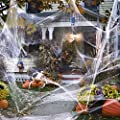 Sizonjoy 800 sqft Halloween Stretch Spider Web Decorations, Large Cobwebs for Indoor Outdoor Halloween Decorations, Halloween Theme Party