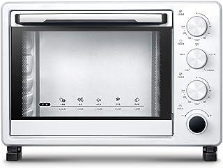 Toaster oven Horno Compacto De 25 litros, Que Incluye Bandeja para Hornear, Red para Asar Y Bandeja para Escoria, Asa para Asar 1400 W (Blanco Leche)