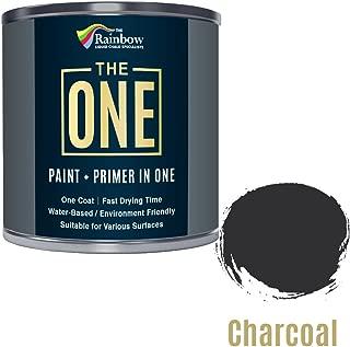 Une Peinture, un manteau, Multi Surface Peinture pour bois, métal, plastique, intérieur, extérieur, Charbon de bois, Satiné, 1litre