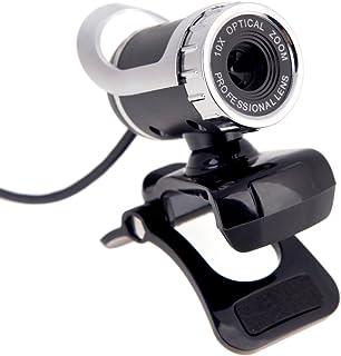 KKmoon - Webcam HD USB 2.0 50M Pixels 360 ° Ajustable con micrófono Integrado para Skype Escritorio PC portátil Plata