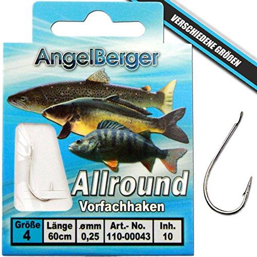 Angel-Berger Vorfachhaken gebundene Haken (Allround, Gr.4 0.25mm)