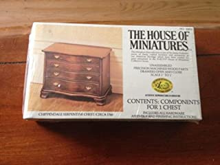House of Miniatures Chippendale Serpentine Chest #40050 (C. 1760) - Dollhouse Furniture
