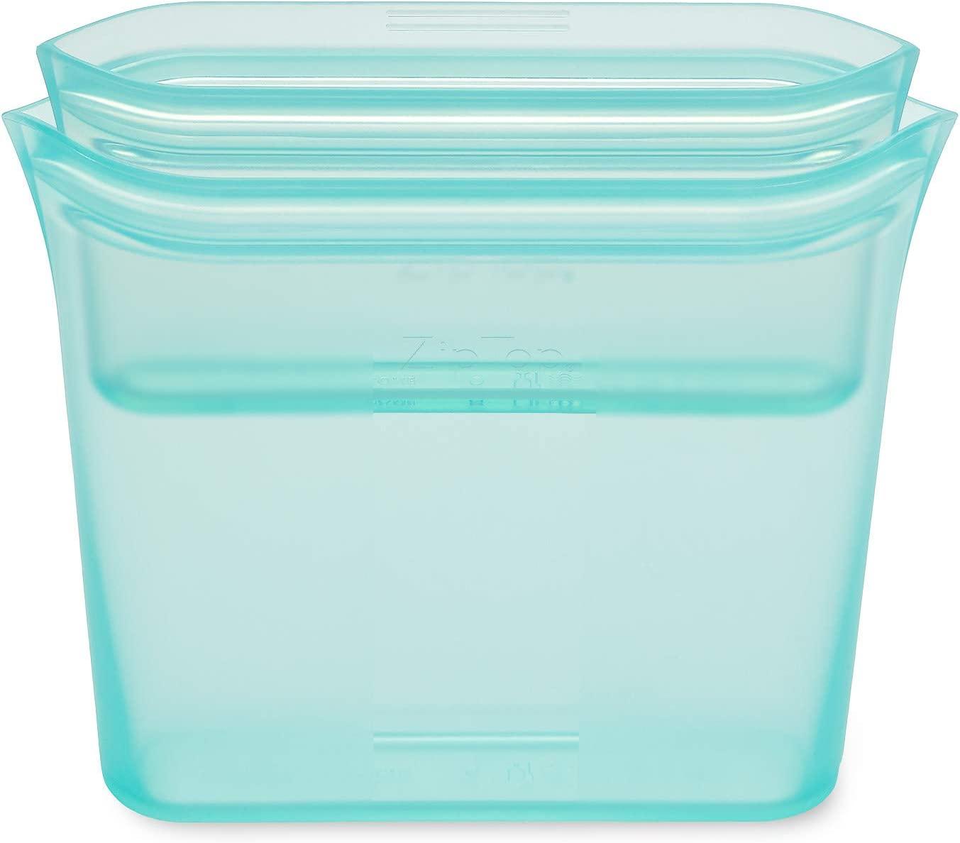 Zip Top Reusable 100% Silicone Food Storage Bags and Containers,