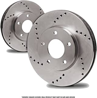 Fits:- Acura Honda Front Rotors Heavy Tough-Series 5lug 2 Cross-Drilled Disc Brake Rotors