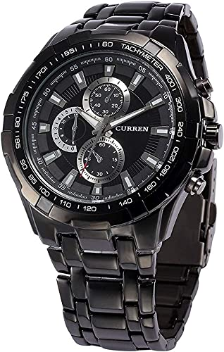 Analogue Men S Watch Black Dial Black Colored Strap
