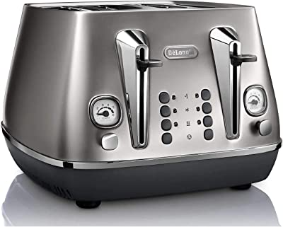 De'Longhi Distinta Flair, 4 Slice Toaster, CTI4003S, Silver