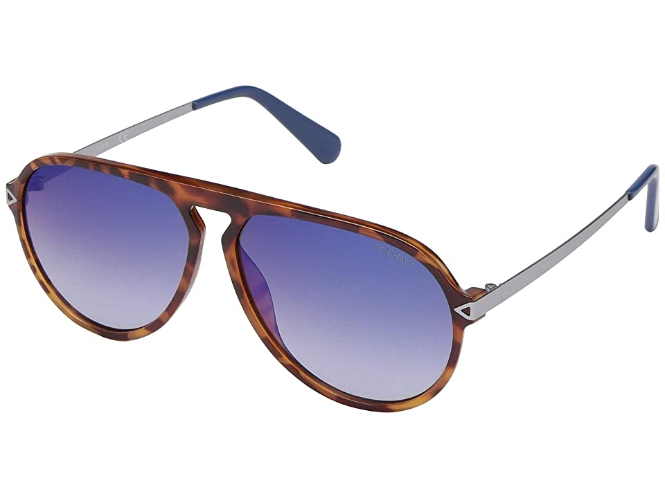 GUESS GU6941 (Honey Tortoise Front/Blue Gradient Mirror Lens) Fashion Sunglasses