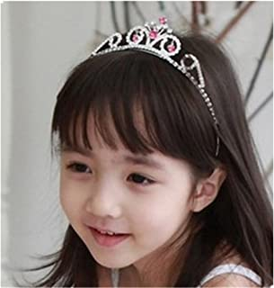 Wedding Party Children Bridesmaid Flower Girl Rhinestones Crown Headband Tiara