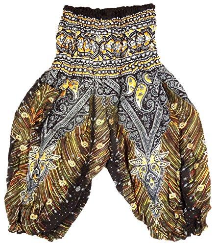 Sarouel 2/3 años - Pantalón étnico para niño, color negro y negro