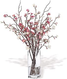 Petals - Cherry Blossom Silk Flower Arrangement - Handcrafted - Amazingly Lifelike - 27 x 20 Inches (Beauty Pink)