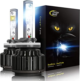 Cougar Motor LED Headlight Bulbs Conversion Kit - 880 881 (893, 899) -7,200Lm 6000K Cool White CREE
