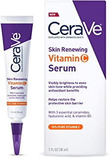 CeraVe 维生素 C 精华,含透明质酸   肌肤提亮精华 10% 纯维生素 C   不含香料   1液体。 Oz