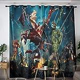 Elliot Dorothy Superhero Vengadores Iron Man Capitán América Thanos Niños Cortinas térmicas con ojales, cortinas para oscurecimiento de la habitación de los niños, cuarto de bebé W55 x L63