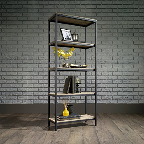 Laurel Foundry Modern Farmhouse Ermont 57' Etagere Bookcase in Charter Oak Finish