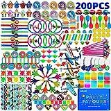 nicknack Relleno de bolsas de fiesta para niños y niñas, juguetes de relleno de bolsas de botín de cumpleaños para niños - 200 piezas