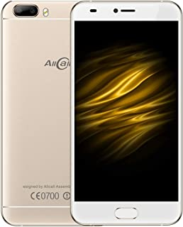 SHIHUI Mobile Phone Bro, 1GB+16GB, Dual Back Cameras, Front Fingerprint Identification, 5.0 inch Android 7.0 MTK6580A Quad Core up to 1.3GHz, Network: 3G, Dual SIM(Gold) (Color : Gold)