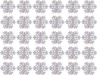 IMIKEYA Wood Clips 30pcs Mini Christmas Snowflake Wood Clothespins Cute Wooden Clothespins Photo Paper Peg Pin Craft Clips...
