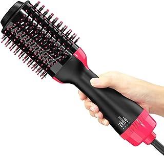 Cepillo de aire caliente NEXT BEAUTY, cepillo para secador de pelo, secador de pelo de un paso y voluminizador, cepillo secador de pelo 3 en 1 con suave frizz y tecnología iónica, secador de pelo de un paso y estilizador y alisador de cabello