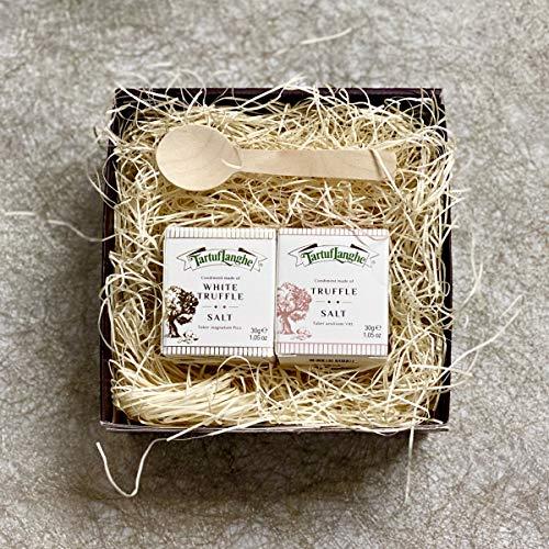 タルトゥフランゲ社 白トリュフ塩 黒トリュフ塩 各30g セット ギフトボックス入り 木製スプーン付 イタリア産