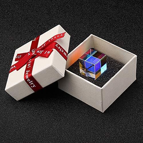 20 mm/23 mm/25 mm Glas optische Kristalle Kombination Prisma X RGB Cube Dispersion Trennwand mit Geschenk – 25 mm