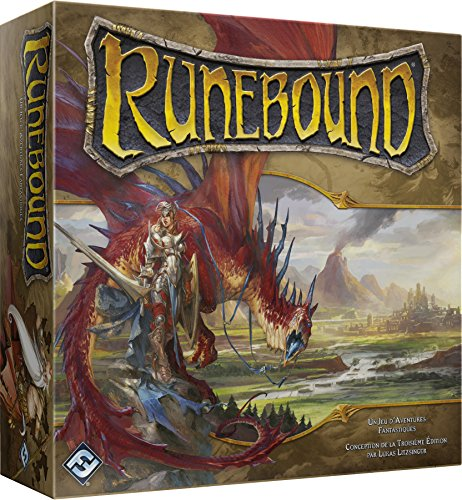 Asmodee Asmodée–FFRUN01–Runebound, dritte Edition (französische Version)