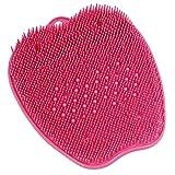 足洗いマット足洗い用 バスマット フットブラシ 足裏あらいマット 浴室 汚れ角質除去 ストレス解消 ピンク 26*24*4cm