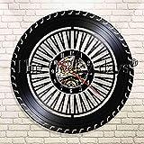 FDGFDG Mécanicien Service Roue De Voiture Disque Vinyle Horloge Murale Service De Voiture Garage Réparation Outils Signe Décor Montre Temps Horloge Murale