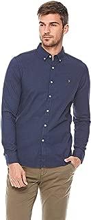 Farah Shirt For Men - Navy Blue, Size Large