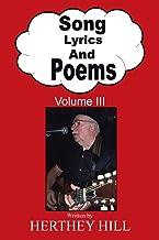 Song Lyrics and Poems: Volume III: 3