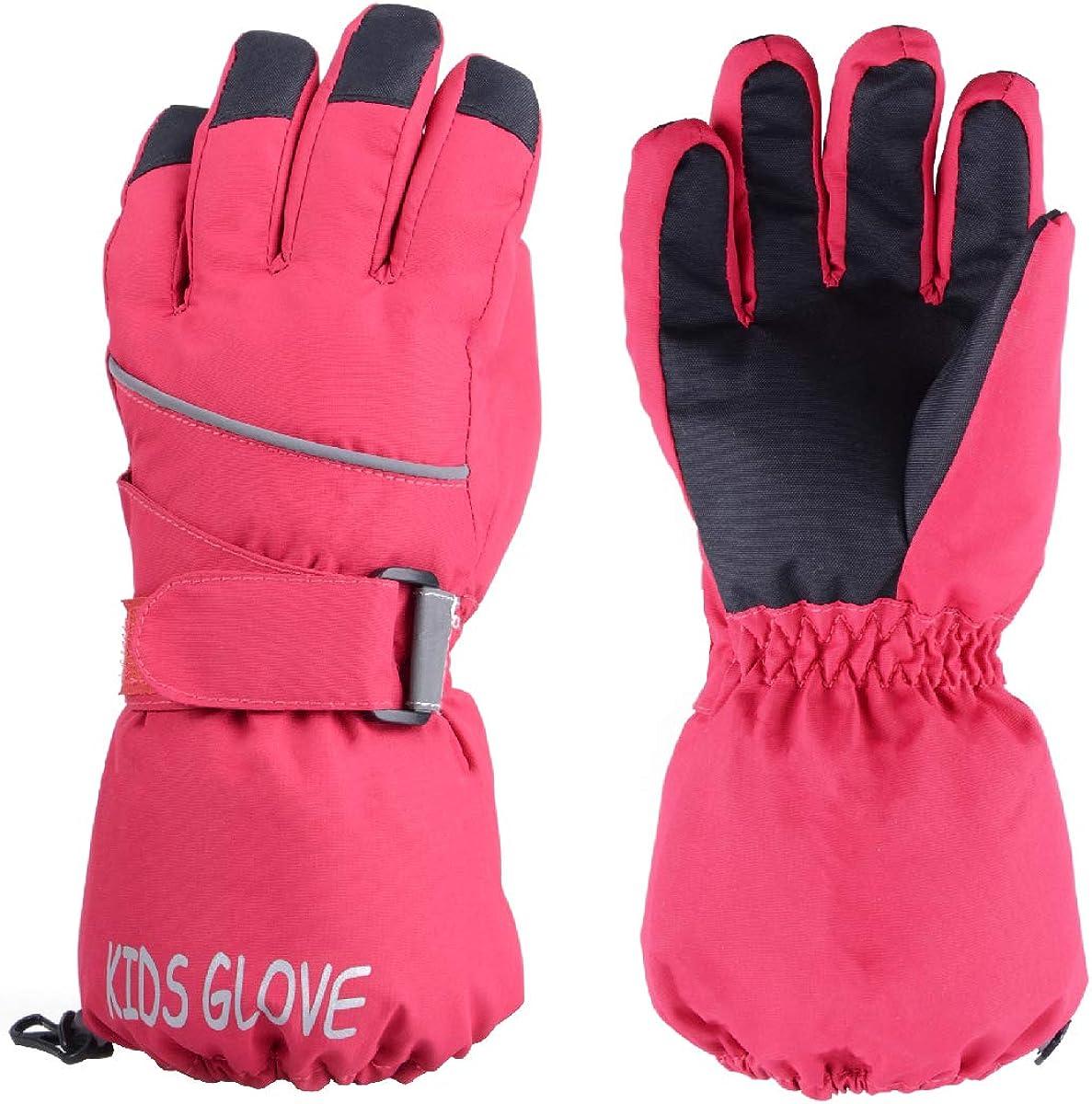 Warme und Winddichte Skihandschuhe f/ür Laufen Skifahren Wandern Snowboard TRIWONDER Kinder Handschuhe