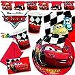 101-teiliges PARTY SET   CARS RED   für Kindergeb