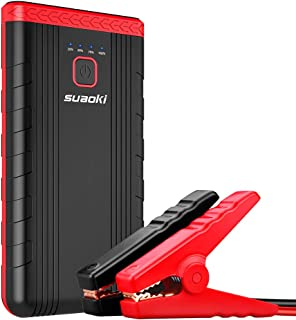 Car Jump Starter, SUAOKI U3 400A Peak 8000mAh 12V Auto Battery Booster and Portable Phone Charger with Built-in LED Flashlight for Gasoline Engines up to 2.5L, UL Certified