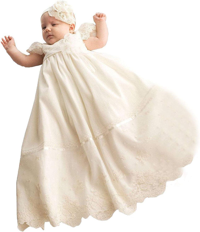 Fenghuavip ショップ Lace Long Christening Dress Baby-Girls Baptism for スピード対応 全国送料無料 Da