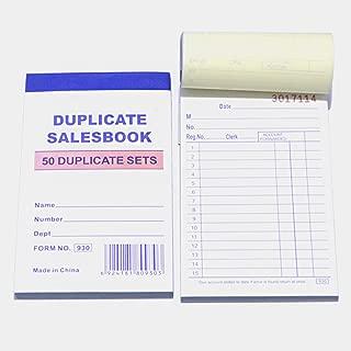10 Pack Lot Sales Book Order Receipt Invoice Carbonless Copy 50 Sets 3.5