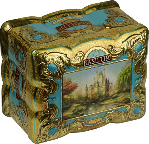 BASILUR Treasure Turquoise Schwarzer Tee Dose 100g