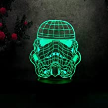 Amore Star Wars Imperial Stormtrooper-3D LED Night Light -7 Color Change - Remote Touch Control Kids Night Light Toys Birthday Gifts Bedroom Lamp Desk Table lamp