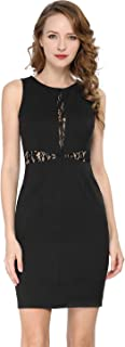 Allegra K Women's Lace Pencil Bodycon Dress Above Knee Cocktail Party Dresses